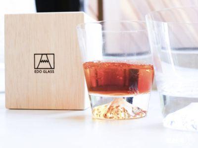 「富士山系列」EDO GLASS田島窯 江戶硝子富士山杯玻璃杯,台幣$3,592/ 一對(約HK$998)
