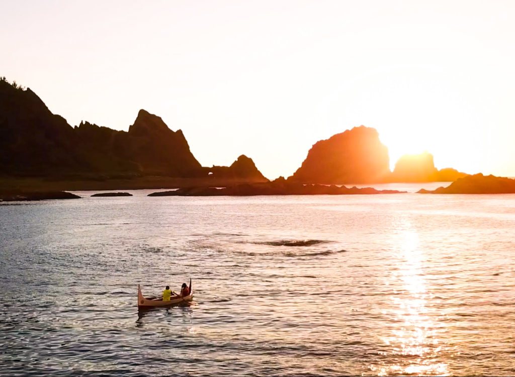 拼板舟看日出